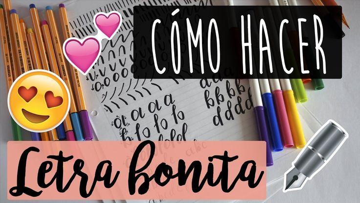 Aprende a hacer LETRA BONITA (Caligrafía) - PARTE 1 ♥   Alejandra Mejía