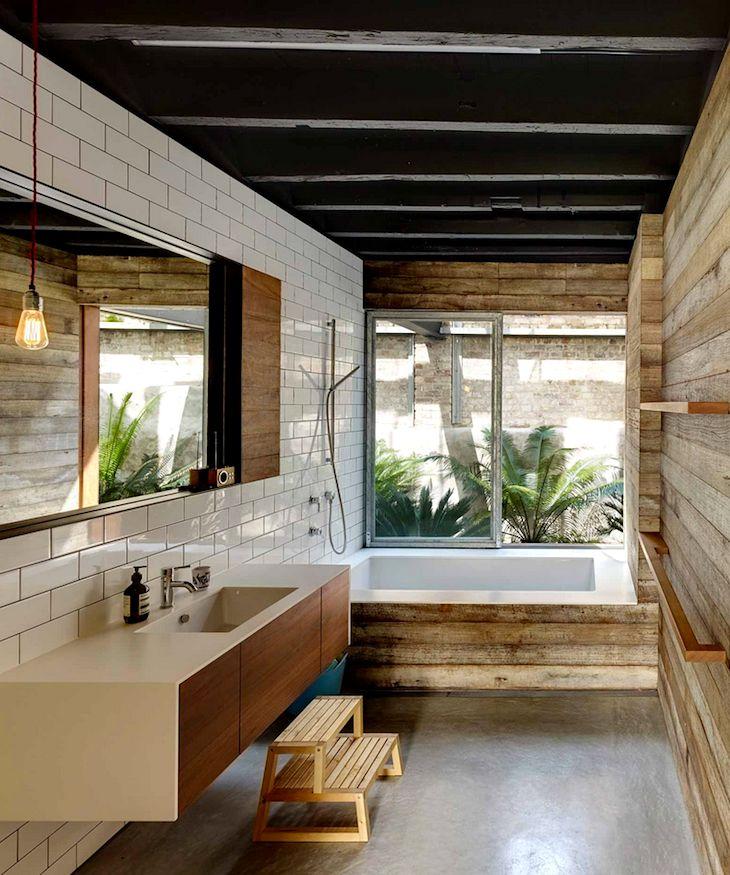 badkamer in industriële loft