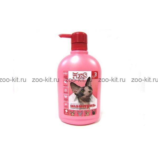 шампунь 200мл №3 грациозный сфинкс для бесшерстных пород кошек мисс кисс