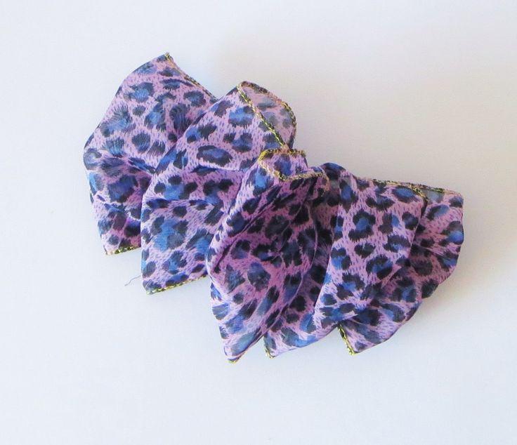 Large Cheetah Bow, PURPLE  Cheetah Hair Accessories, Hair Bows, Super Cute Accessories by TiStephani on Etsy