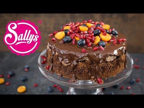 Brownietorte mit Schokoladencreme - YouTube