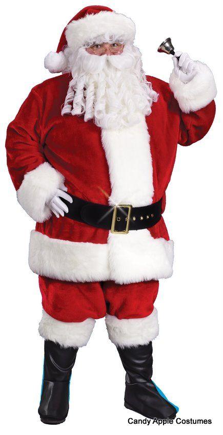 XXL Crimson Regency Plush Santa Claus Suit - Candy Apple Costumes - Browse All Plus Size Costumes