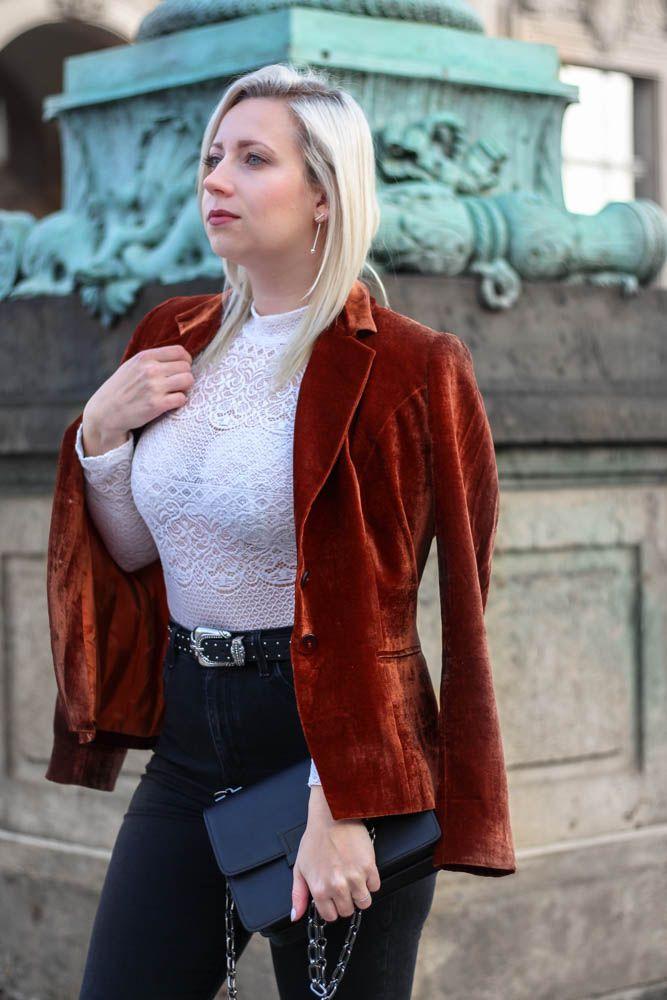 Velvet // Blogger Look Inspiration // Samt Blazer // Puppenzirkus.com