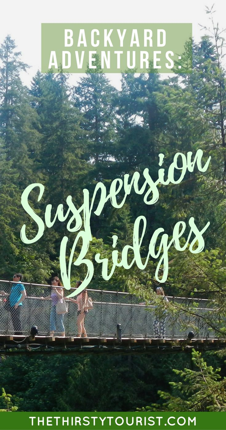 Budget Backyard Adventures: Suspension Bridges... Be sure to follow The Thirsty Tourist for our best budget Backyard Adventures!