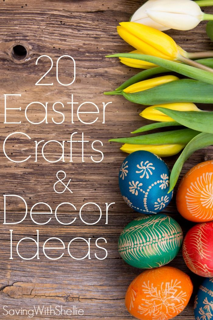Easter is right around the corner! Get ready with these 20 Easter Crafts & Decor ideas. Get your Washi Tape and glue Gun Ready!