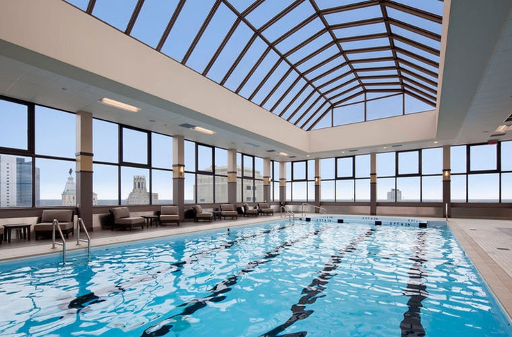 Swim in the Olympic sized pool all year round at 1500 Locust, a #Bozzuto community. @Grace Chesters