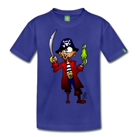 Pirate on a kid's T-shirt #Spreadshirt #Cardvibes #Tekenaartje