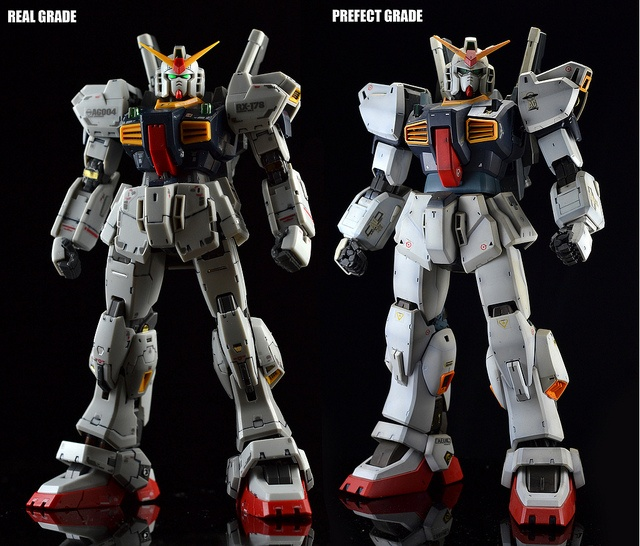 RX-178 Gundam Mark II - Real Grade vs Perfect Grade