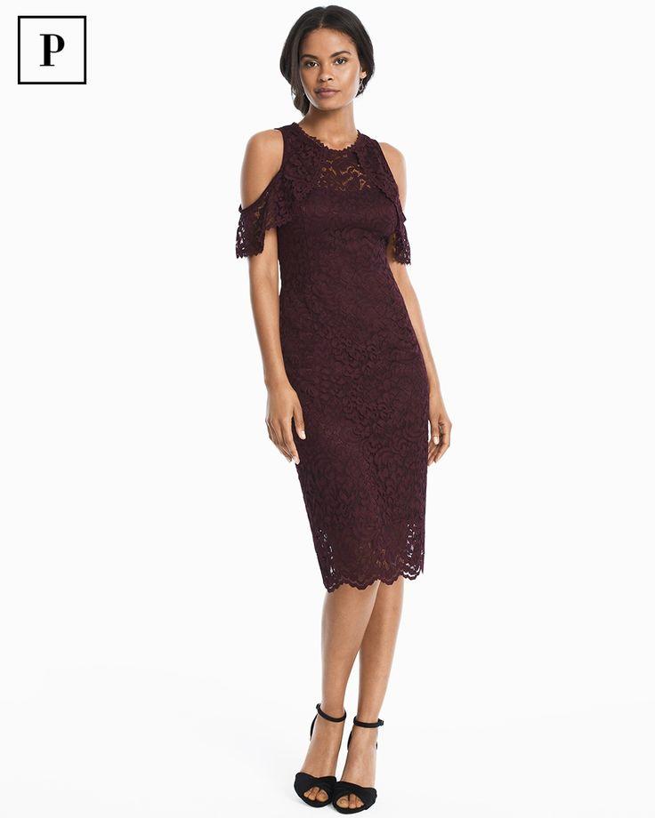 Women's Petite Cold-Shoulder Lace Sheath Dress by WHBM