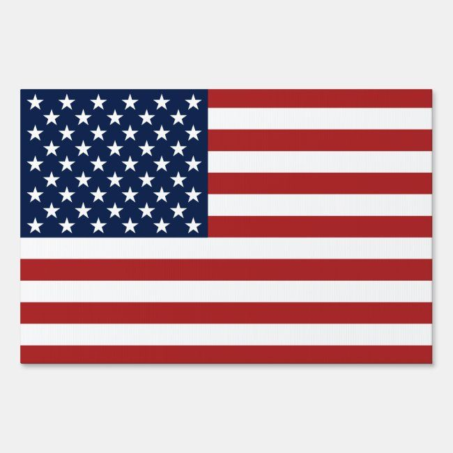 Patriotic Stars And Stripes American Flag Sign Zazzle Com In 2020 Flag Signs Patriotic Stars American Flag