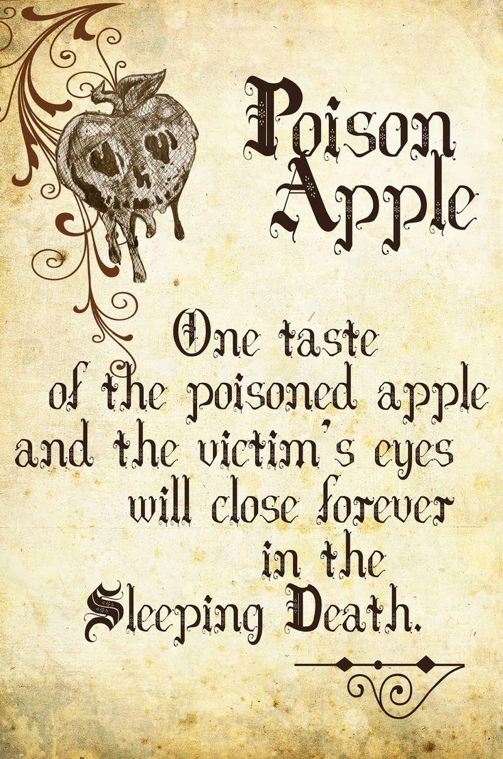 snow white - poison apple