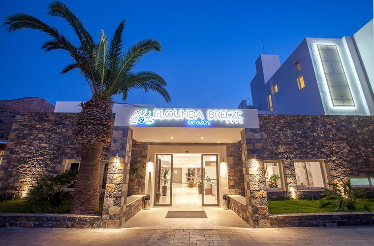 Elounda Breeze - Main Building Entrance #vitahotels #crete #elounda #eloundabreeze #main_buiding #entrance #evening #luxury #exterior http://www.eloundabreeze.gr/