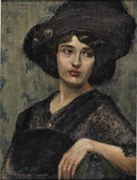 Σοφία Λασκαρίδου (Sofia Laskaridou), La belle époque, 1910-15, Εθνική Πινακοθήκη. Αθήνα (National Gallery. Athens).
