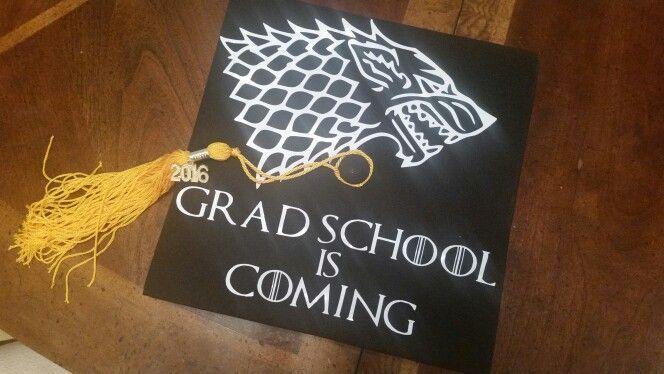 Game of Thrones themed graduation cap - #graduation #themed #thrones - #DecorationGraduation
