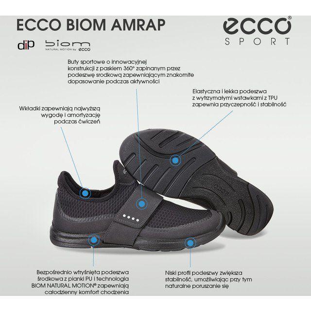 Sportowe Damskie Ecco Czarne Ecco Biom Amrap 71351052 Amrap