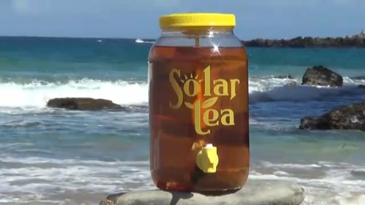 Solar Powered 'Stirring' Sun Tea Jar