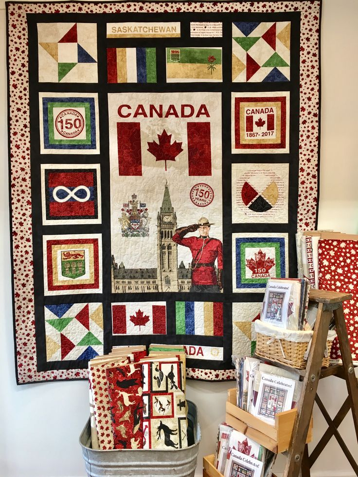 Canada Celebrates! This is my Canada 150 quilt. For more information go to: www.facebook/carlylesewandsews.com
