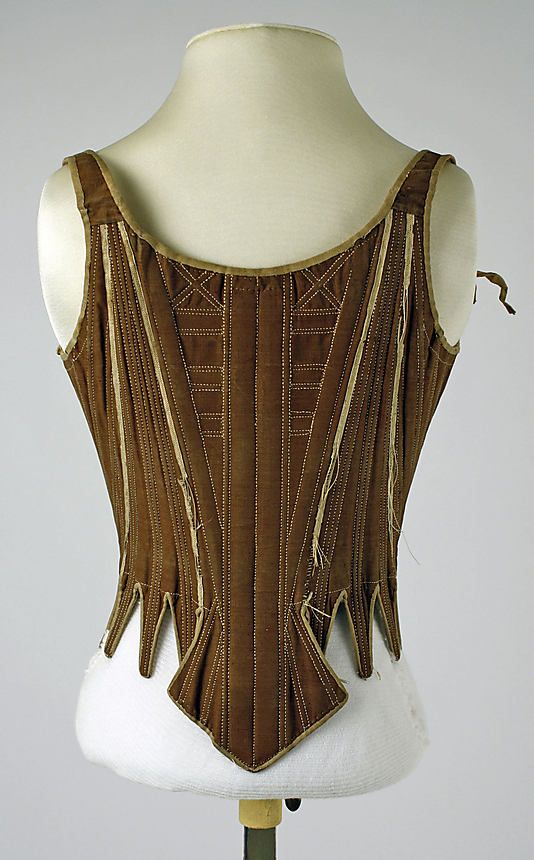 Corset Date: 18th century Culture: American or European Medium: cotton, silk