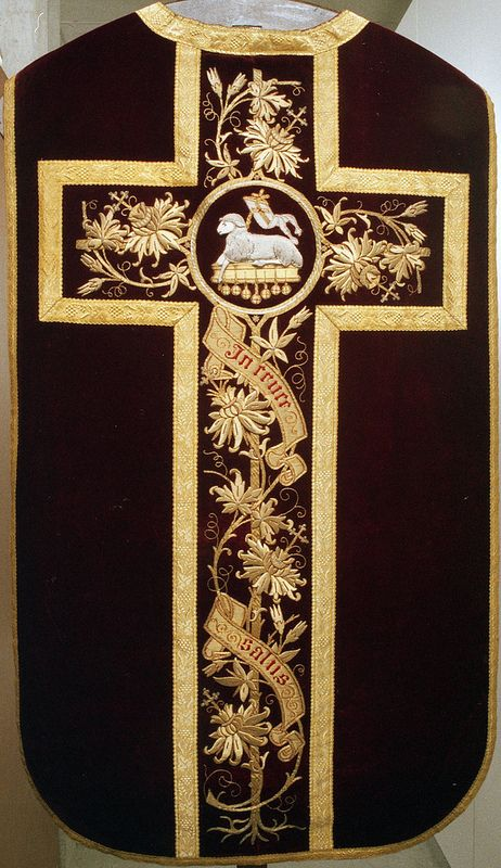 NEG021-03  Chasuble  Dutch  Date: c. 1870-1890
