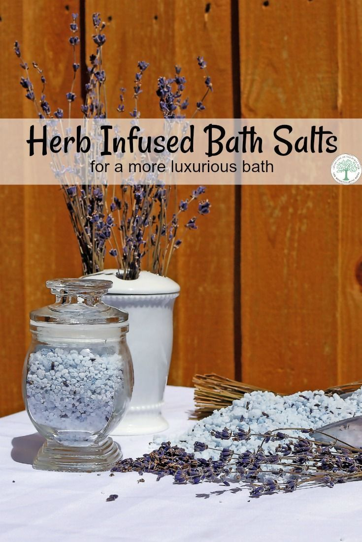 Adding herbs into the salts makes for a more luxurious bath. The different herbs you can use are countless, too. Think relaxing, soothing, anti-inflammatory, or even energizing. The Homesteading Hippy via @homesteadhippy