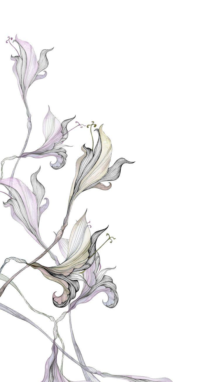 Karin Meyn | Flower illustration, purple leaves