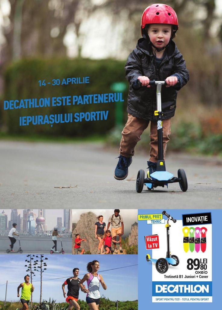Catalog Decathlon Oferte Paste 2016!Oferte si recomandari: role Play 3 pentru copii 79.90 lei; set 3 protectii role/skateboard basic 39.90 lei