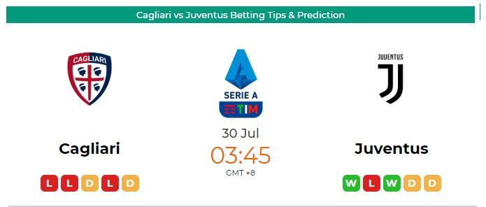 Cagliari vs juventus betting tips betting odds for masters golf tournament