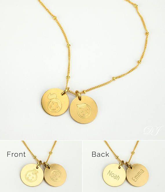 Mom Necklace With Kids Names Rose Gold Mothers Necklace Gold Boy