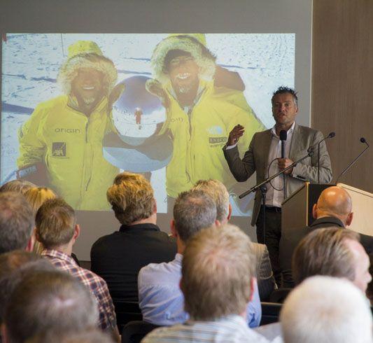 Professioneel avonturier en poolreiziger Marc Cornelisse sprak tijdens de NOA Jaardagen over het belang van voorbereiden, samenwerken en het boeken van succes.