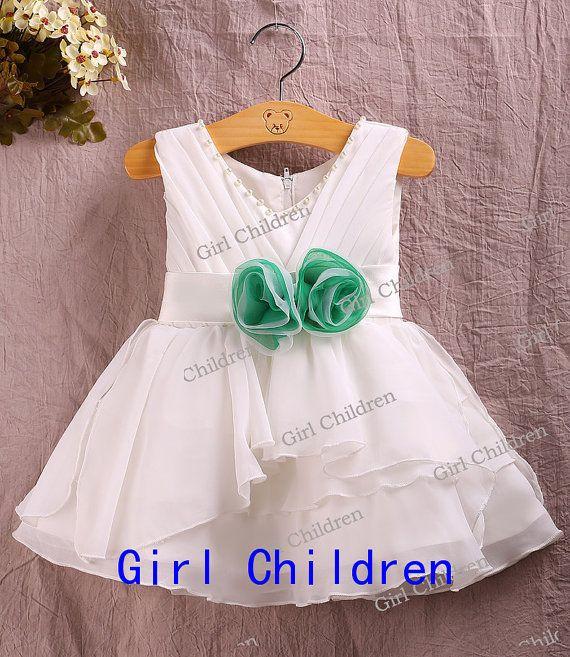 Barato linda niña vestido de flores, linda chica vestido de princesa, niña de las flores de la boda vestidos de niña, Nueva años vestir chicas