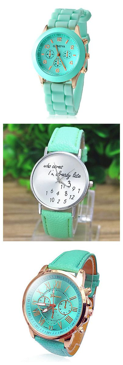 Mint green watches are perfect for the coming summer - reminds us of mint ice cream! Click the image for more in this color!
