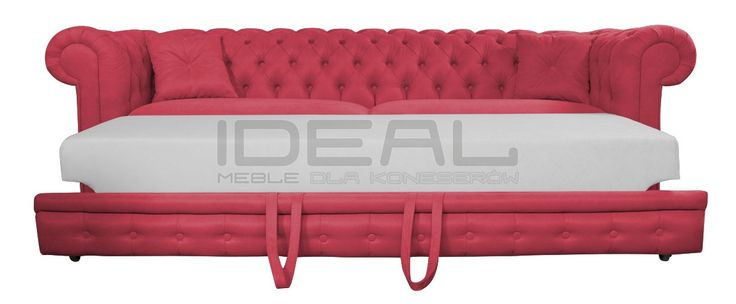 Przepiękna sofa Chesterfield z głębokimi pikowaniami. Intensywny kolor czerwony dodaje jej fantazji. Idealna do salonu, perfekcyjna do gabinetu. Wygodna wysuwana funkcja spania pozwoli komfortowo z rodziną zasiąść przed tv lub przenocować gości.  sofa_chesterfield_march_rem_IMG_2797c.jpg (1200×497)