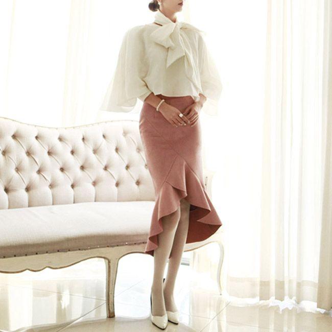 SK1240 Ullman Unbalanced Ruffle Skirt