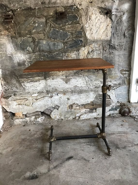 Antique Mechanical Table Industrial Table Drafting Table Side