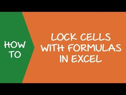 How To Lock Cells With Formulas In Excel Video Https Www Youtube Com Watch V Yl6m9wgp Fe Excel Excel Formula Data Dashboard