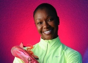 Carmelita Jeter shows value of technology in speed training