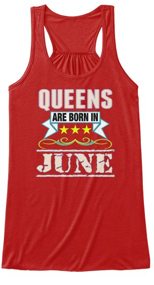 Birthday Gifts For Women Red Color Tank Tops OutfitMade In USA