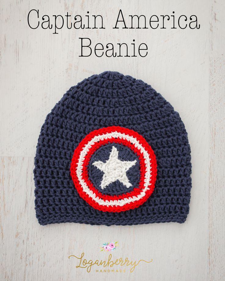 Captain America Beanie – Free Crochet Pattern
