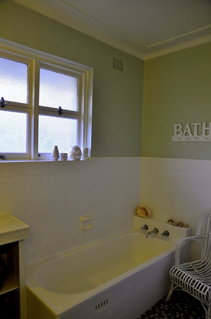 A sense of design: Before and after - painted tile bathroom
