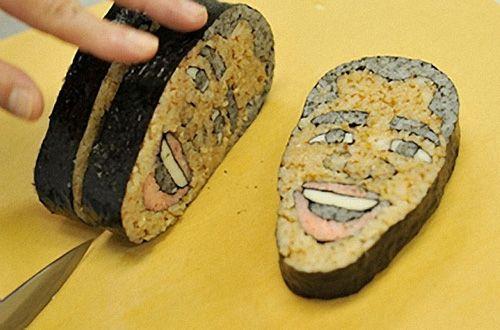 Creative Presidential Sushi: Obama Rolls, Food, Obama Sushi, U.S. Presidents, Funny, Sushi Rolls, Sushi Art, Obamasushi, Barack Obama