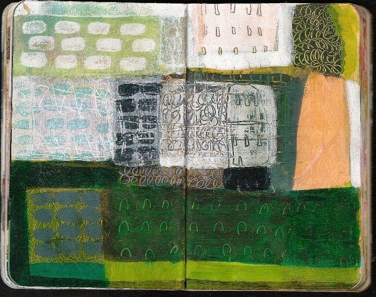 Anne Davies small moleskine #green #journaling