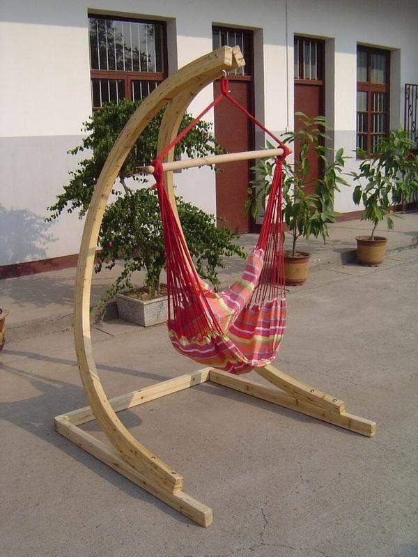 Wooden Hammock Chair Stand Stuhlede Com Diy Hanging Chair Diy Hammock Hammock Chair Stand