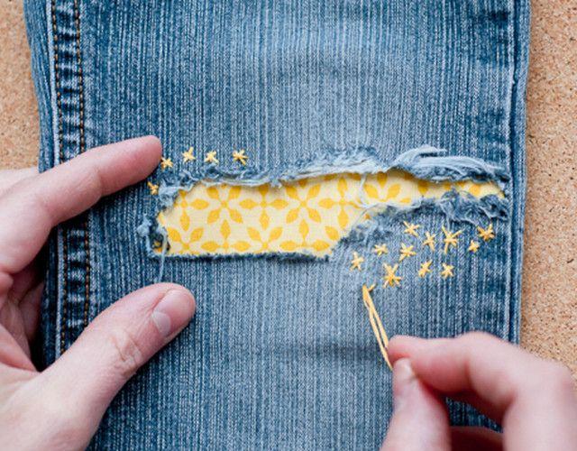 Как сделать дырявые джинсы в домашних условиях: как сделать красивую дырку…