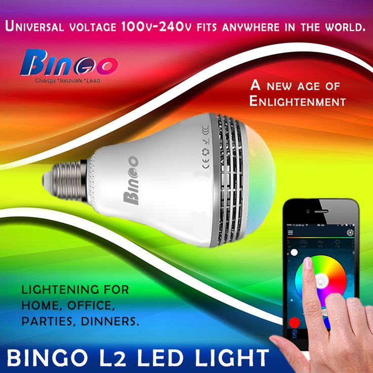 #Bingo #L2 The Eco-friendly and economical solution for lightning..! Light up your world with Bingo Smart Light. For more information, Visit: http://amzn.to/2d3vkO3