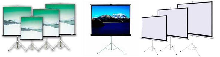 Telon con tripode para Proyector video beam - base tripode portatil pantalla proyeccion | Bases y Soportes Ltda