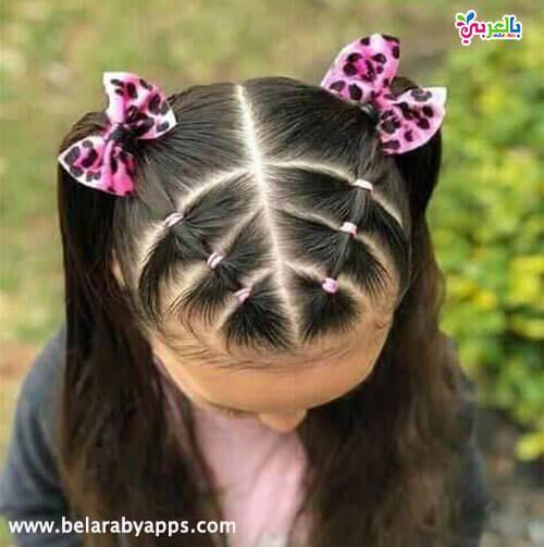 تسريحات اطفال سهلة ومميزة للمدرسة Kids Hairstyles Girls Kids Hairstyles Easy Little Girl Hairstyles