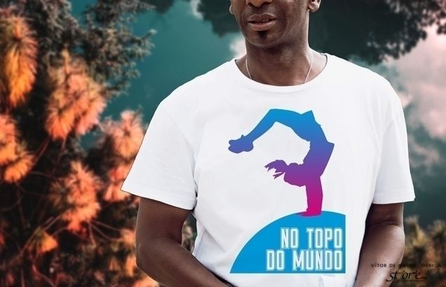No Topo Do Mundo⠐ Tshirt Men by Vítor de Matos