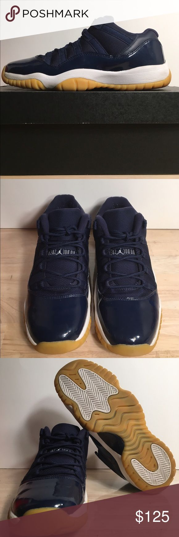 "Jordan Retro 11 ""Midnight Navy"" SIZE-7 youth, 8.5 women's CONDITION-7/10, creasing, original all Jordan Shoes Sneakers"