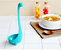 Dos desenhos animados Gadgets Nessie Super resistente Nylon haste Big criativo colher de sopa cozinha fornece bens domésticos decoração