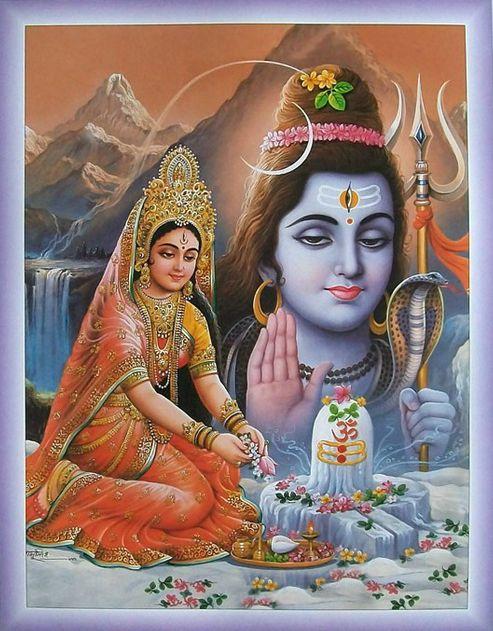 Parvati and Siva
